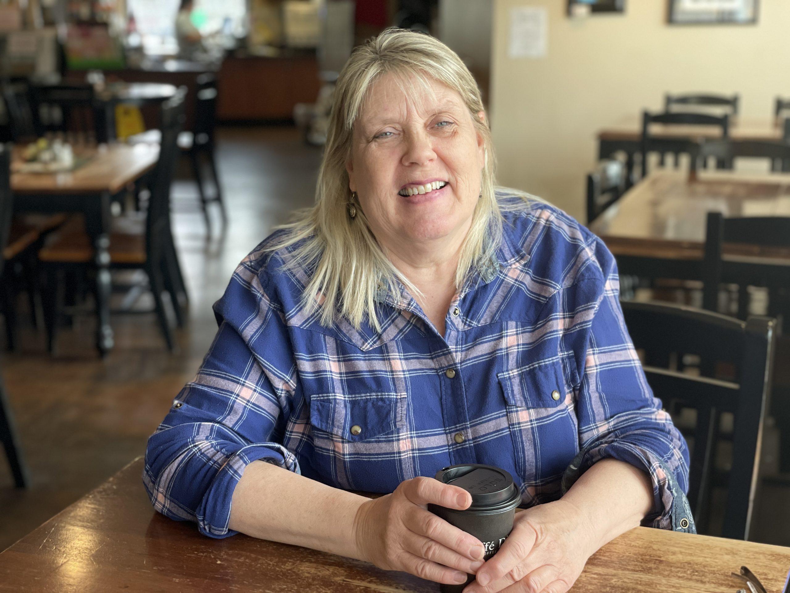 Bonnie Dear Crossroads Coffee Cafe owner